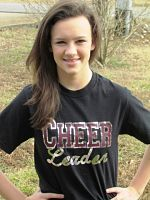 Custom Cheer Leader Sparkle Shirt