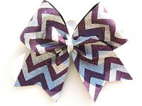 Super Sparkle Custom Glitter Chevron Cheer Bow