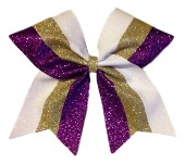 Custom 3 Colored Glitter Varsity Cheer Bow