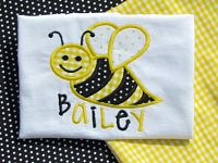 Bee Personalized Embroidered Appliqued Shirt