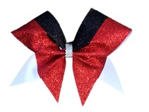 Custom Three Color Razzle Dazzle Cheer Bow