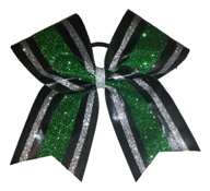 Two Striped Custom Glitter Mystique Cheer Bow