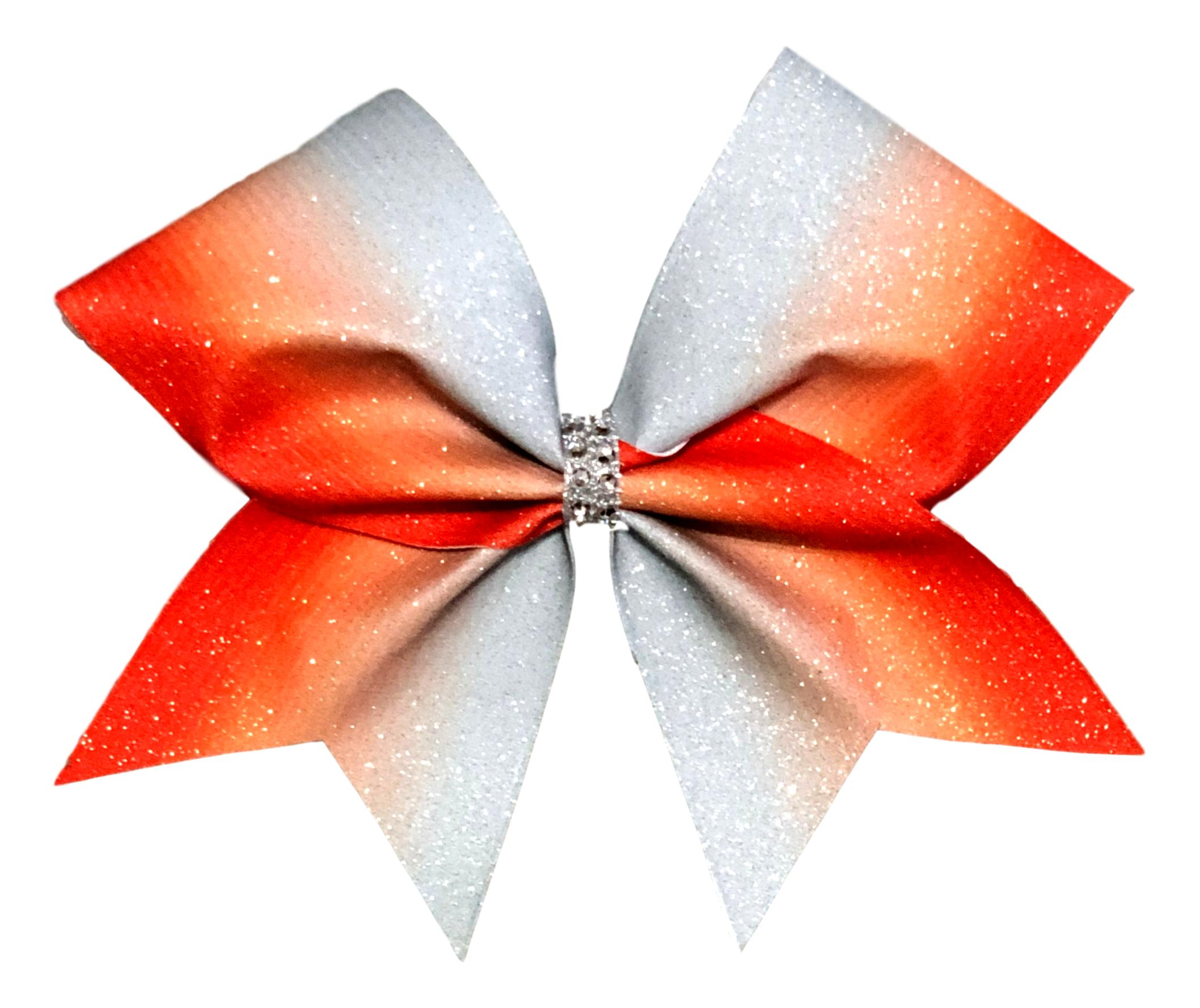 Ready to Ship, White Glitter Vinyl Mister Mouse Glitter Sublimated Cheer Bow Girly Hairbows