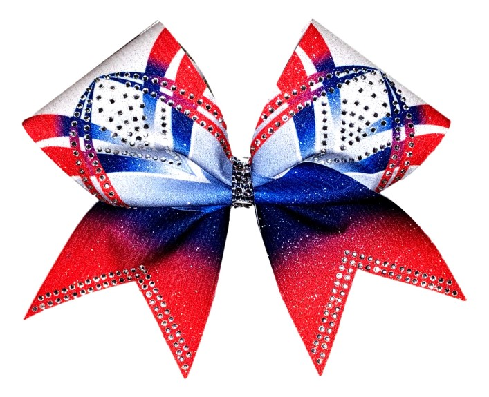Rhinestone Red, White, and Blue Arch Bow