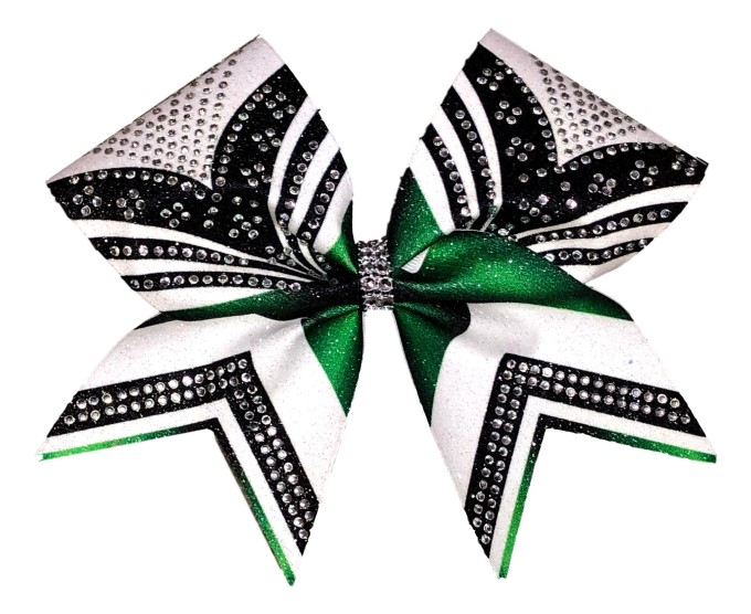 Rhinestone Kelly Green, Black, and White
