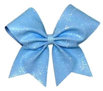 Neon Blue Glitter Cheerleading Hair Bow