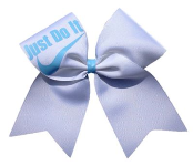Just Do It Custom Cheer Bow With Many Color Choices