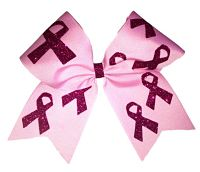 Pink Awareness Covered Cheer Bow