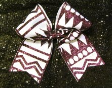 Tribal Aztec Custom Cheer Bow