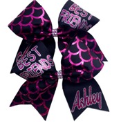 Pair Best Friends Personalized Cheer Bows