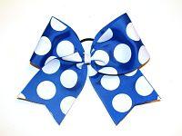 BIG Polka Dot Cheerleading Hair Bow