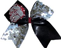 Bulldog Glitter Cheer Bow