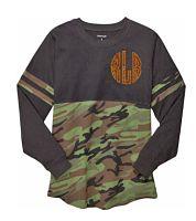 Camouflage Spirit Monogramed Billboard Pom Pom Shirt