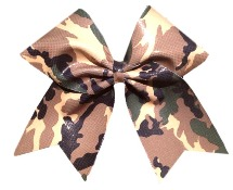 Holographic Camo Cheer Bow