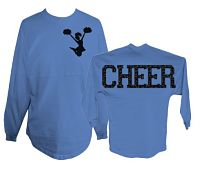 Cheer Spirit Jersey Glitter Shirt