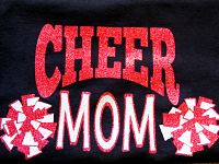 Cheer Mom Glitter Shirt