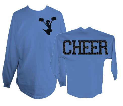 637099a066e ... spirit jersey for cheer glitter pom pom shirt ...