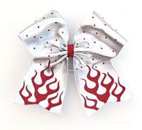 Flamin Hot Cheerleading Hair Bow
