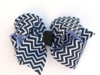Chevron BIG Boutique Hair Bow