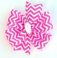Classic Pinwheel Chevron Large Hair Bow