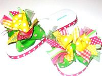 Country Lemonade Boutique Ribbon Flip Flops