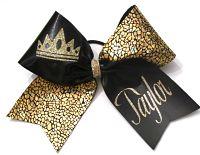Crown Cheerleading Hair Bow
