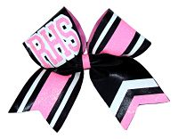 Custom Logo Cheer Glitter Sparkle Bow