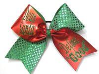 """Dear Santa """"Define"""" Good Cheerleading Hair Bow"""