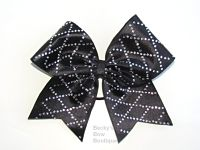 Diamond Cut Rhinestone Cheer Bow