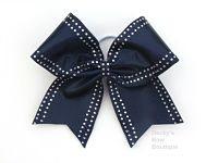 Solid Jewel Trimmed Cheerleading Bow