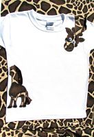 Wrap Around Giraffe Embroidered Appliqued Shirt