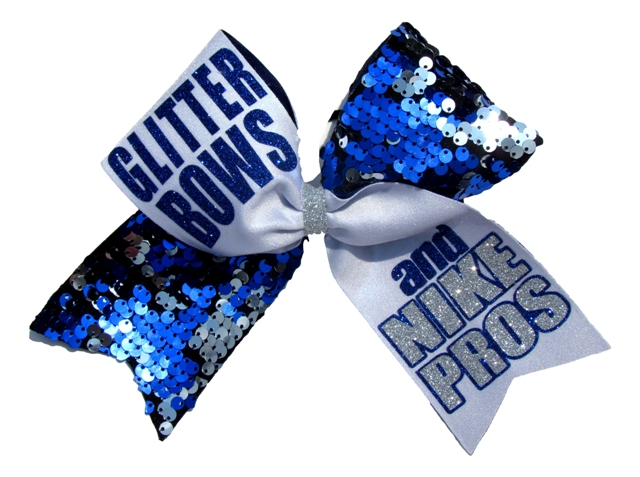 glitter bows and nike pros reverible sequin cheer bow