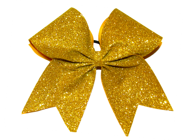 Gold Glitter Cheer Bow