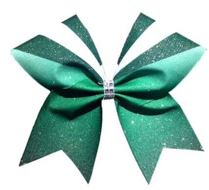 Green and White Ombre Sublimation Bow