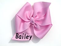 Big Personalized with Monogrammed Name Pinwheel Hair Bow