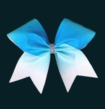 Turquoise Ombre Glitter Cheer Bow
