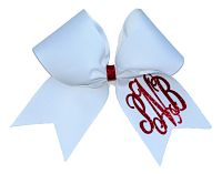 Interlocking Vine Monogrammed Glitter Cheer Bow