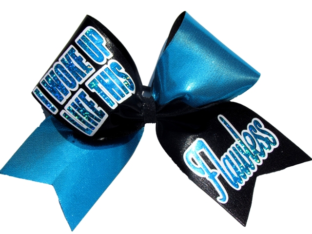Flawless Sublimated Glitter Hair Bow