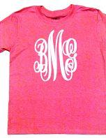 Vine Monogrammed Glitter Tee Shirt