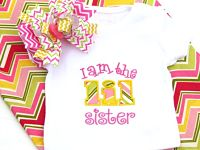 I am the Lil Sister Appliqued Shirt