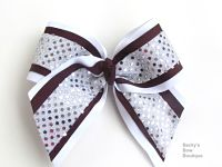 3 Layered Sparkle Cheer Bow