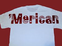 'Merican Short Sleeve Glitter Shirt