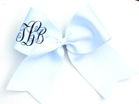 Personalized Monogrammed Initial Cheer Bow