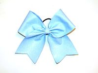 Neon Blue Glitter Cheerleading Hair Bow