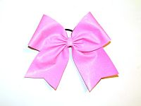 Neon Pink Glitter Sparkle Cheer Bow