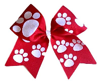 Paw Print Personalized Monogrammed Custom Cheerleading Hair Bow