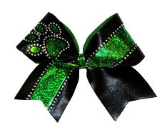 Paw Print with Rhinestones Custom Cheer Bow