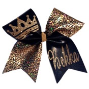 Crown Cheerleading Hair Bow