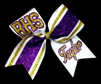 The Ultimate Varsity Print Two Colored Cheer Bow