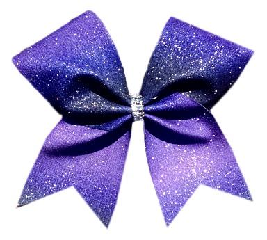 purple ombre glitter cheer bow